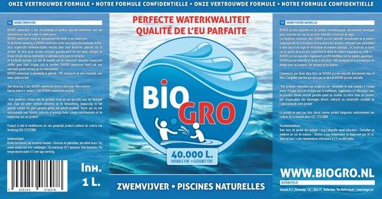 BIOGRO zwemvijver OPSTART PAKKET - 2x1 Liter geschikt voor 40.000L