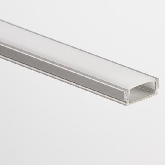 PL1 Anser Aluminium profiel 2m voor LED strips + afdekking opaal
