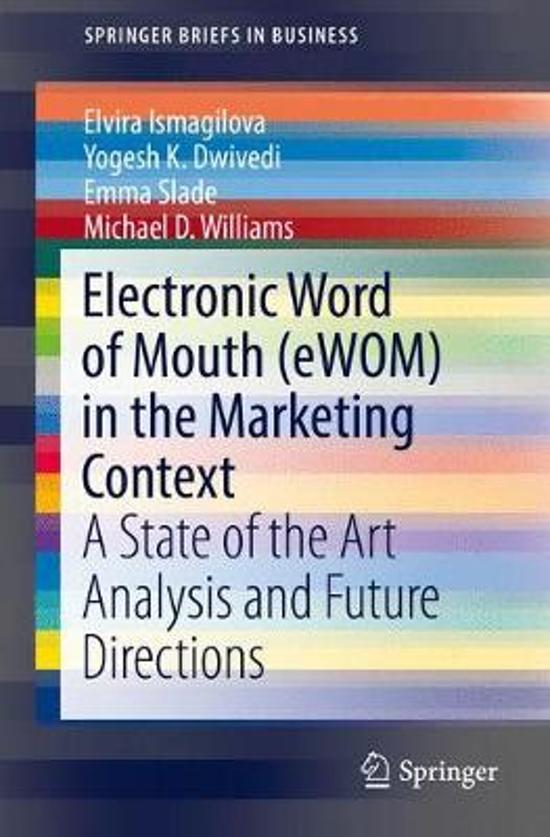 electronic word of mouth Electronic word of mouth (ewom) and tourists' attitudes towards specific destinations and actual travel intentions to this end, we conducted a structural equation.