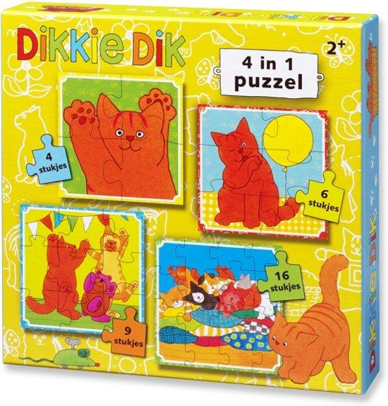 Dikkie Dik puzzel 4 In 1