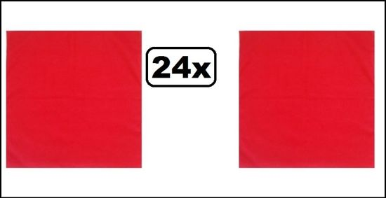 24x Zakdoek uni rood