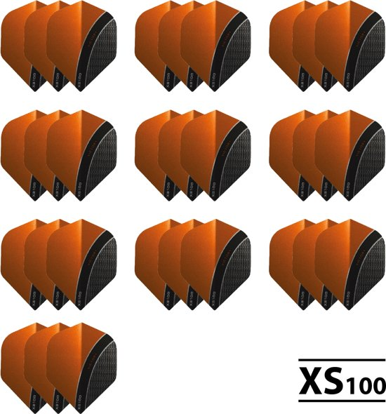10 - Sets XS100 Curve 100 micron flights - Oranje