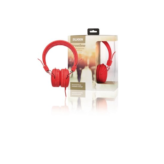 On-Ear Headphones 1.2 m Red
