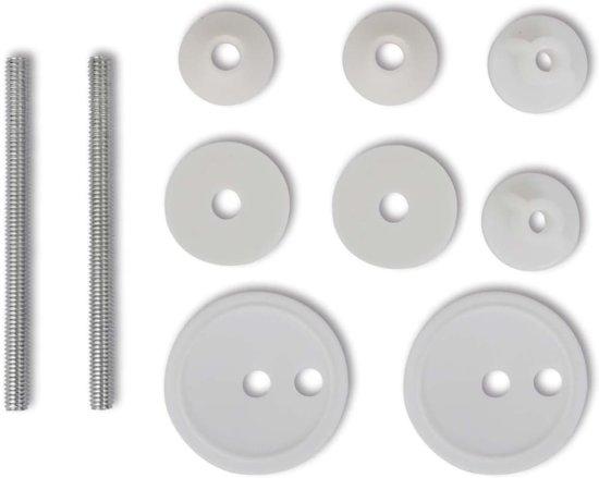 vidaXL Toiletbril met hard-closedeksel 2 st MDF kiezelsteentjes