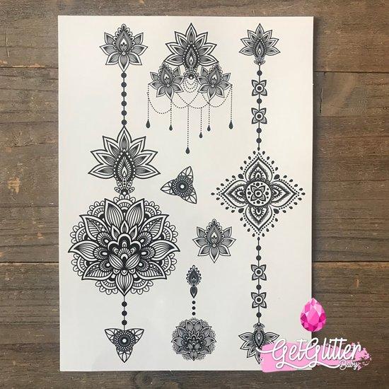 GetGlitterBaby - Henna Plak Tattoo / Nep Tatoeage - Underboob / Hand