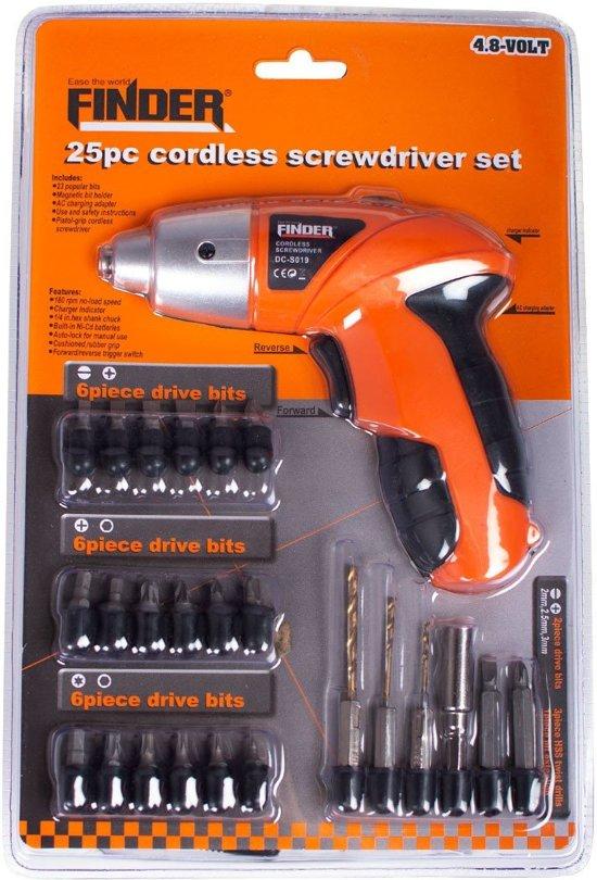 Finder Tools Schroefmachine Set 4,8V 25-delig