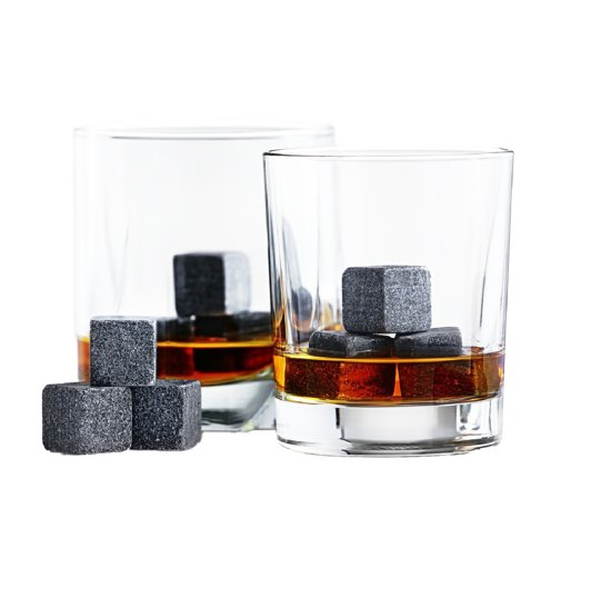 Whiskey Stones Whiskeystenen Luxe Herbuikbare ijsblokjes - 9 stuks