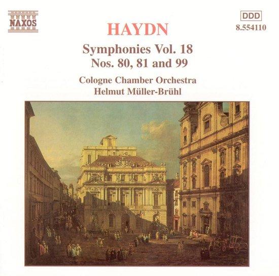 Haydn: Symphonies nos 80, 81 & 99 / Muller-Bruhl, Cologne CO