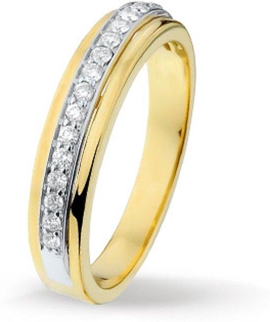 Huiscollectie 4205232 Bicolor gouden ring met 0.24 crt
