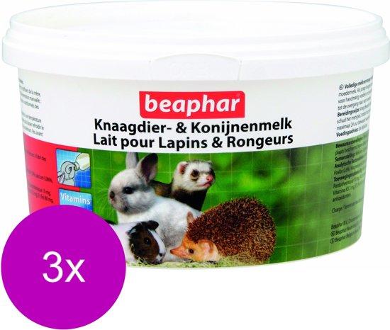 Beaphar Knaagdier- En Konijnenmelk - Knaagdiersnack - 3 x 200 g
