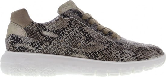 Tango   Haley 3-d p/w  taupe snake basic jogger - white sole   Maat: 42