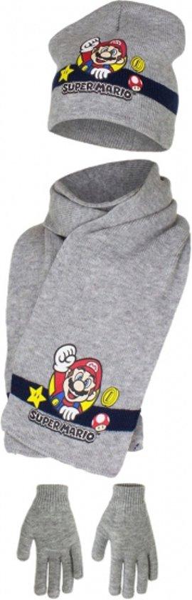 Grijze Super Mario winterset 52 cm