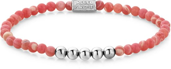 Rebel&Rose armband - Coral Beach - 4mm - silver colored S (16,5cm)