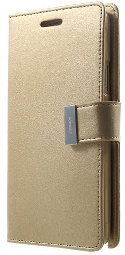 Mercury Rich Diary - Samsung Galaxy Grand Prime Wallet Case Goud in Anthée