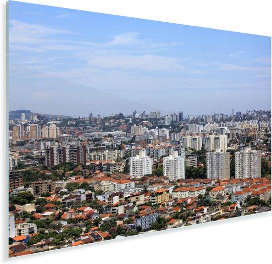 De oude Braziliaanse binnenstad van Porto Alegre Plexiglas 180x120 cm - Foto print op Glas (Plexiglas wanddecoratie) XXL / Groot formaat!