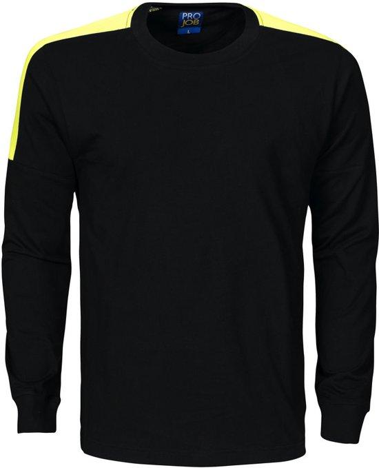 Projob 2020 T-shirt Zwart/Geel maat XS