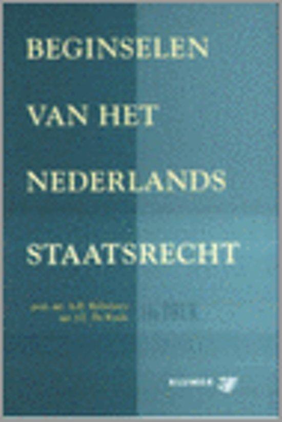 Boek cover Beginselen Van Het Nederlands Staatsrecht van A.D. Belinfante (Paperback)