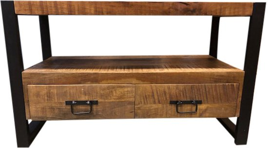 Tv Meubel Mango Hout Staal 100 Cm Breed