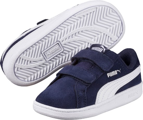 0e7559c3f9e PUMA Sneakers Smash FUN SD V Inf 362090 11 - Unisex - Peacoat-White -