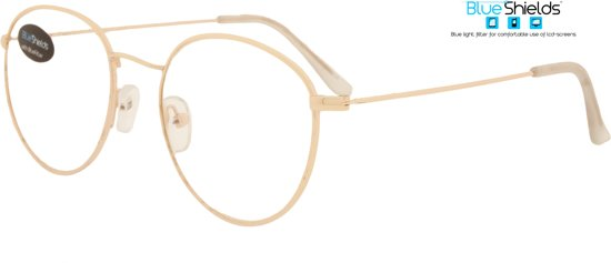 21c991825a62a3 Icon Eyewear SFG018 DEPP BlueShields bril zonder sterkte 0.00 - Goudkleurig  frame - Metaal