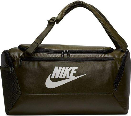Nike  Brsla S Bkpk Duff Unisex Sporttas - Cargo Khaki/Cargo Khaki/(Wht)