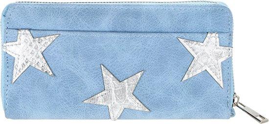 f859b8831d2 bol.com   Grote portemonnee met kleine sterren - blauw blingdings