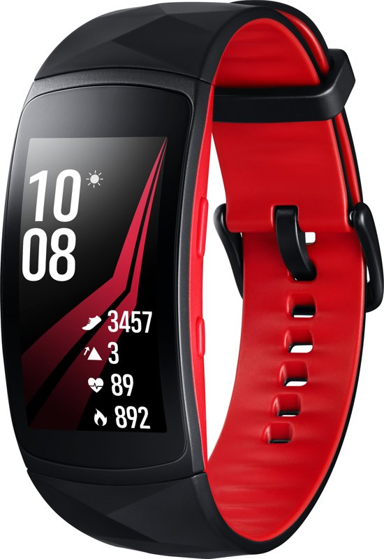Samsung Gear Fit2 Pro - Activity tracker - Zwart / Rood - Small