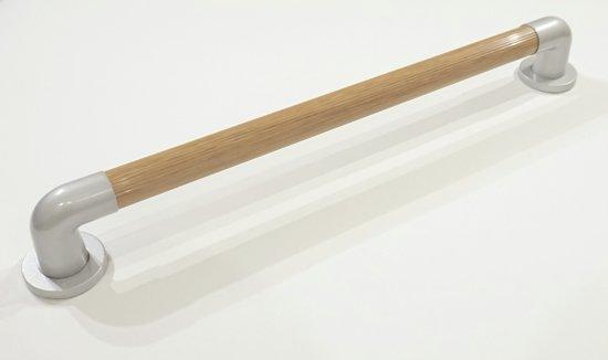 Badgreep hout look luxe uitstraling 61 cm lang buisdikte 35 mm