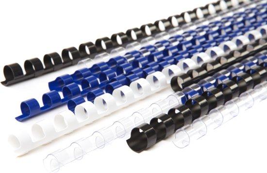 Kunststof bindring 6mm - wit - 100 stuks