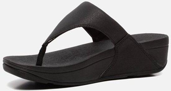 FitFlop Lulu Shimmer Toe Post slippers blauw
