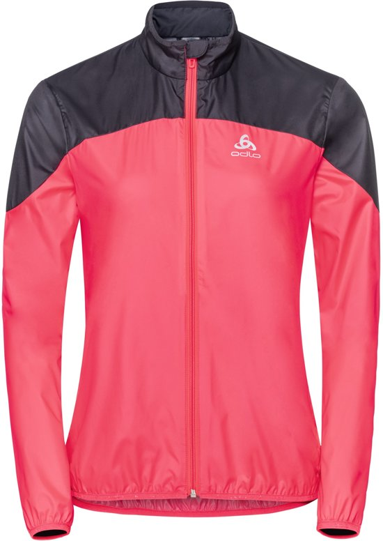 Odlo Jacket Core Light Hardloopjas Dames - Diva Pink-Odyssey Grey