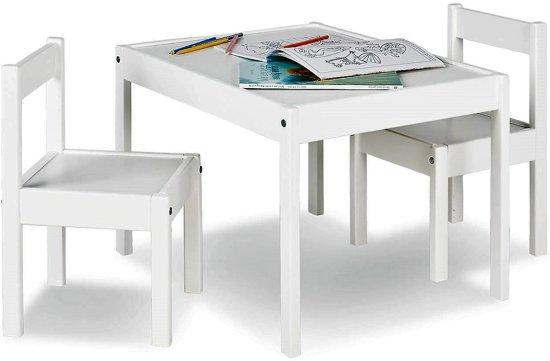 Tafel Met 2 Stoelen Kinderen.Pinolino Kleuterset Tafel Met 2 Stoeltjes Wit