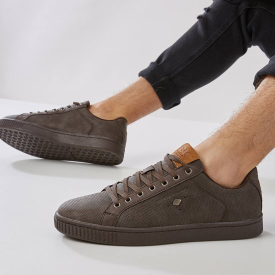 Synthetisch Laag Duke 45 Sneakers Brown British Heren Knights 4cOZaWWq0