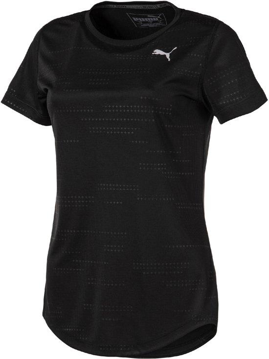 PUMA Ignite Graphic S/S Tee Sportshirt Dames - Puma Black