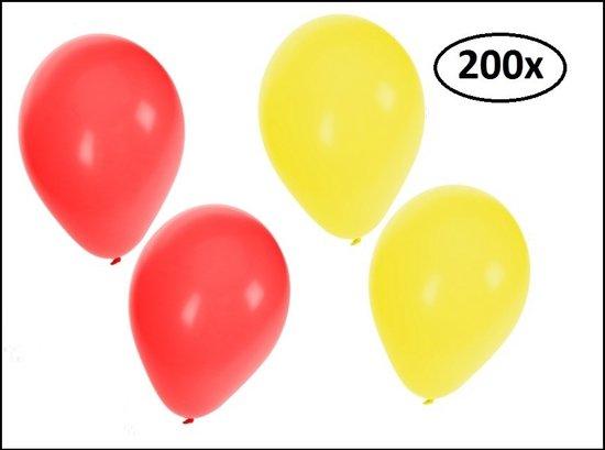 Ballonnen helium 200x rood en geel