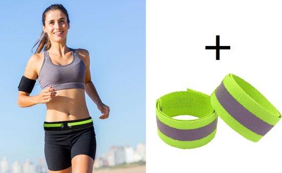 Boer sport | heuptasje| Heupriem|Running belt | Sport Heupband | Hardloopband | Sportband | Hardloop Riem + 2 x Gratis reflectiearmband