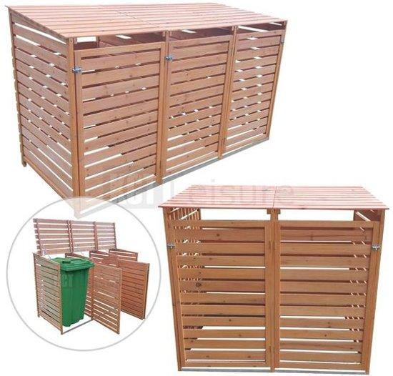 Kliko Box ombouw container 4 kliko' met achterwand