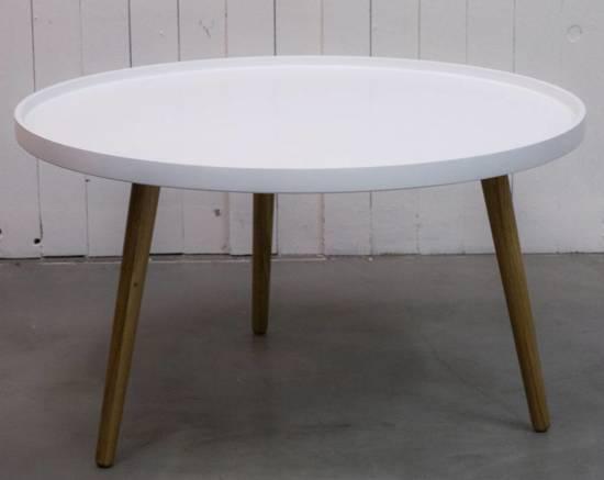 Bol.com duverger radius salontafel tray rond Ø90cm wit
