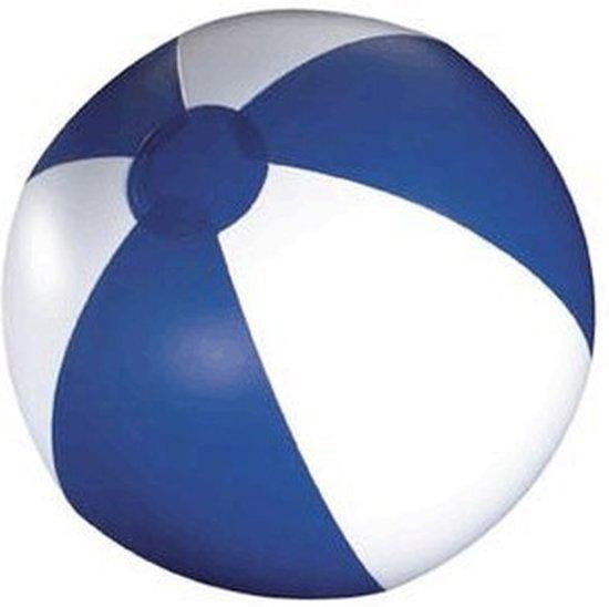 3x Opblaasbare strandbal blauw - 30 cm - strandballen