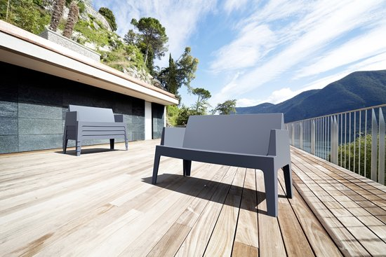 Garden Impressions Box bank L138 cm donker grijs