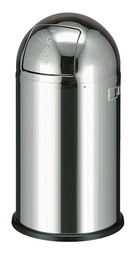 Wesco Pushboy Zilver.Wesco Pushboy Zilver Rvs Hoogglans 50 Liter