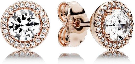 Pandora Rose Oorbellen Classic Elegance rosékleurig 286272CZ