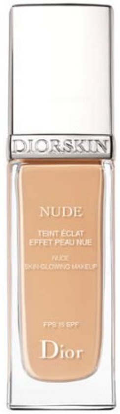Dior Diorskin Nude Skin-Glowing foundationmake-up Fles Vloeistof 30 ml