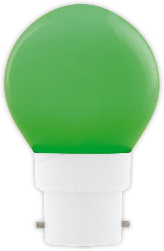 Kogellamp LED groen 1W (vervangt 10W) bajonetfitting B22d