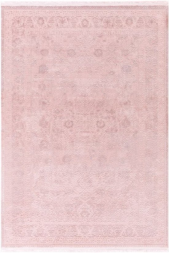Vloerkleed klassiek patroon  80x150cm roze