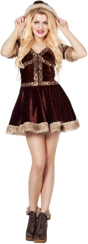 Eskimo kostuum bruin voor dame maat 40
