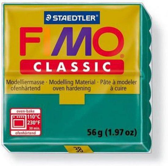 Fimo Classic blauwgroen 56GR 8000-38