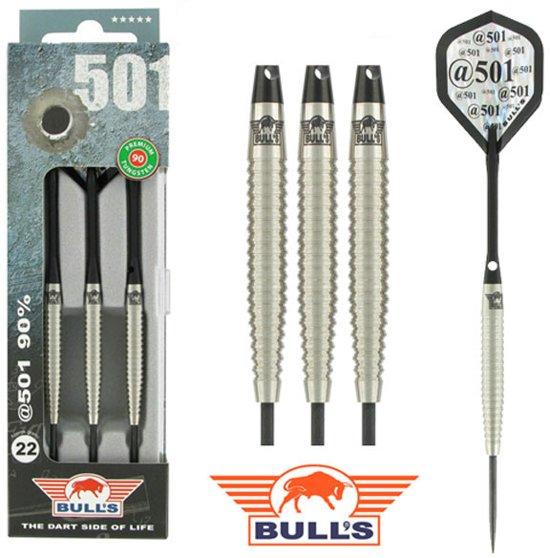 BULL'S @501 90% Tungsten dartpijlen - Zwart - 24 gram