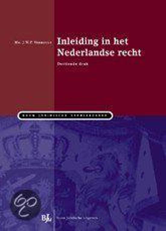 Boek cover Inleiding In Het Nederlandse Recht van J.W.P. Verheugt (Hardcover)