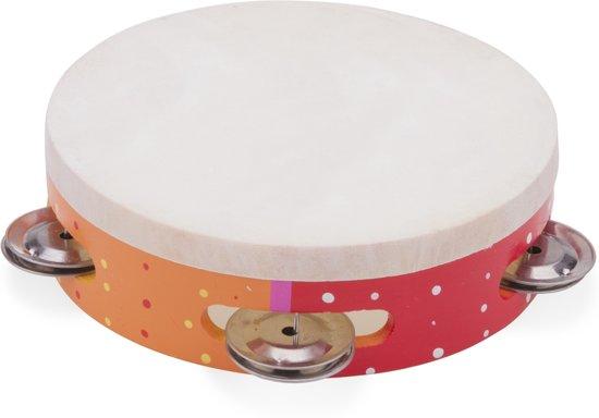 New Classic Toys - Tamboerijn - Oranje/Rood/Geel